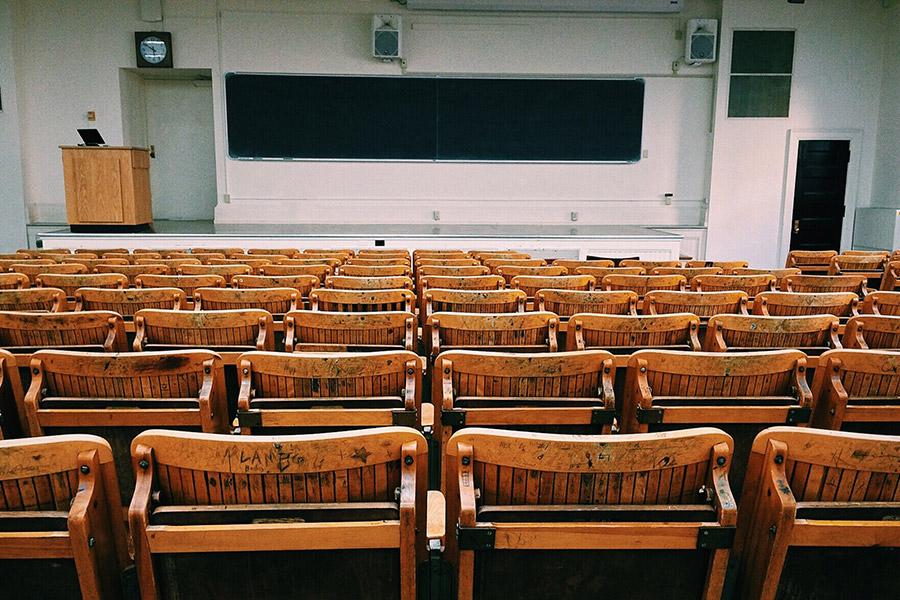 učebna ve škole v USA